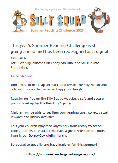Library Summer Reading Challenge